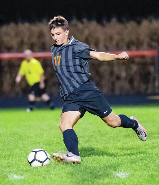 WL-S's Matthew Christison (pictured) scored a goal and had an assist in a loss to Newton.