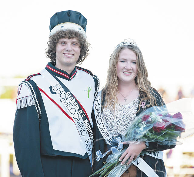 Pictured are Graham Homecoming King Bradon Trace and Homecoming Queen Abigail Crisler.