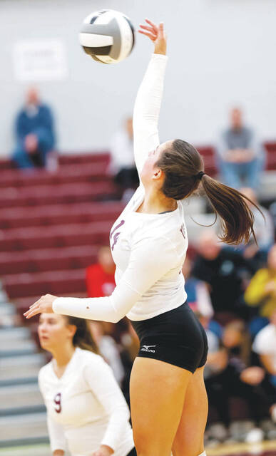 Urbana's Emily Skelley (pictured) had 34 kills, 17 digs and 3 aces against visiting Graham.