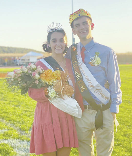 Pictured are WL-S Homecoming Queen Grace Winters and Homecoming King Holden Shafer.