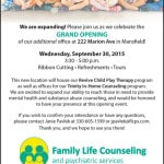 Family Life Counseling to open new location