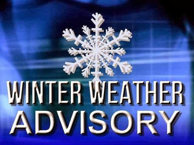 Image result for Winter weather advisory