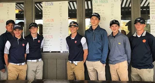 Courtesy photo 2017 Sectional Champions: The Galion Tigers Pictured (from L to R): Coach Bryce Lehman, Spencer Keller, Mitch Dyer, Jack McElligott, Matthew McMullen and Kaleb Harsh.