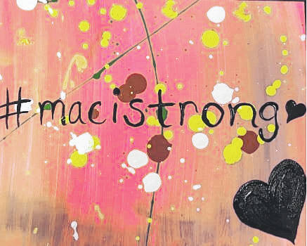 Courtesy photo A fundraiser is planned Nov. 12 for Maci Risner, at Contemporary Art Studio at the Richland Mall.