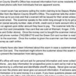Area residents warned of phone scam