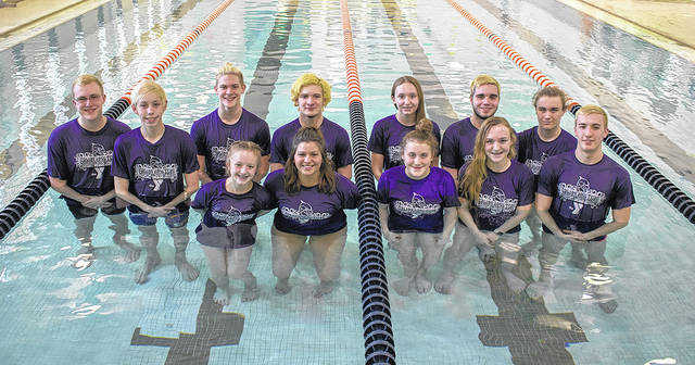 Courtesy photo Twelve swimmers representing the Galion Community YMCA Dolphins swim team will compete in the YMCA Great Lanes Zones Championship in Geneva, Ohio.