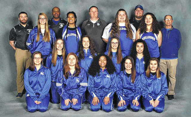 Photo by Ellis Studios The 2018 Crestline Lady Bulldogs track and field team