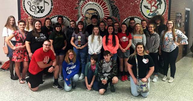 "Courtesy photo Bucyrus Secondary School students (pictured) and Bucyrus Elementary School students received the ""Best of Show"" award in each building's respective category at the 2018 Artapalooza art show at Mid-Ohio Educational Service Center April 10-13. Staff report"