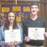 Teglovic, Martin honored as top students at Colonel Crawford