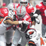 Ohio State cruises, 77-31 against Oregon State