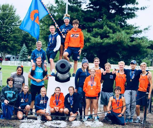 Photo submitted by Noresa Nickels The Galion cross country teams were in action at Amann's on Saturday, competing in the annual Crawford County Meet. The Lady Tigers took home the title while the boys finished as the runner-ups. Braxton Tate won the boys event by more than a minute and a half over Colonel Crawford's Braxton James.