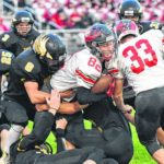 Eagles overpower Bucks in N-10 gridiron action