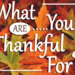 Russ Kent Column: What are you thankful for?