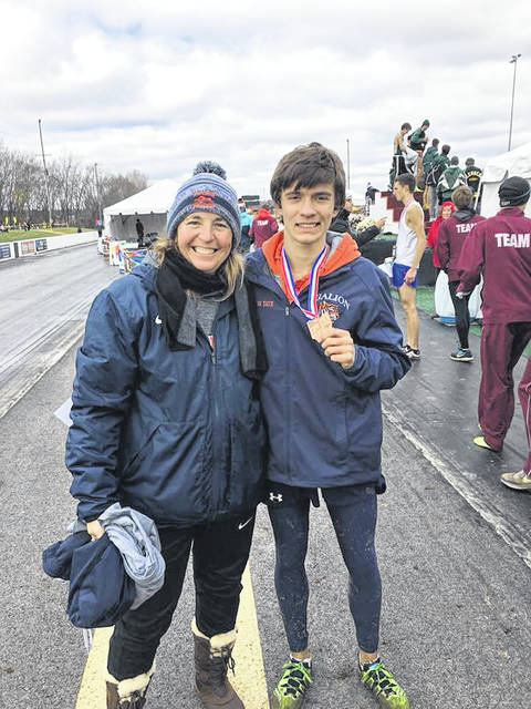 Submitted photo The Galion Tigers were well represented by Braxton Tate at the state cross country meet on Saturday, November 10 at National Trail Raceway in Hebron. Tate finished in ninth overall in the field to run his way to All-Ohio honors.