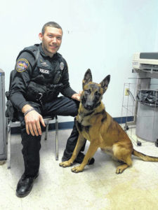 Galion police officer making the rounds with his new partner