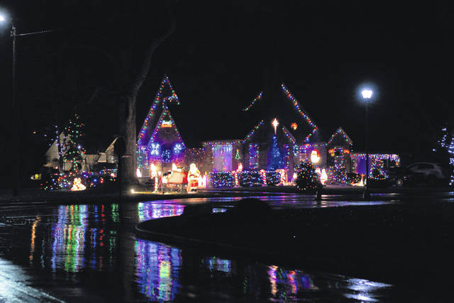 Erin Miller | Galion Inquirer Ken Klingelhafer's Portland Way South Christmas display is 24-hour delight. Klingelhafer said he likes to find decorations that also add something visual to look at during the day when the lights can't be on.