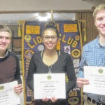 Three Colonel Crawford seniors earn Student of the Month honors