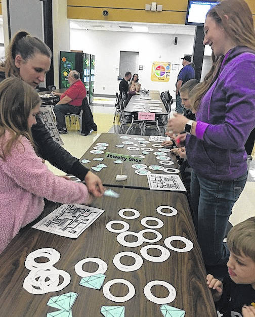 Northmor Elementary School students were invited to come and explore the wonders of math and enjoy an exciting evening of hands-on learning.
