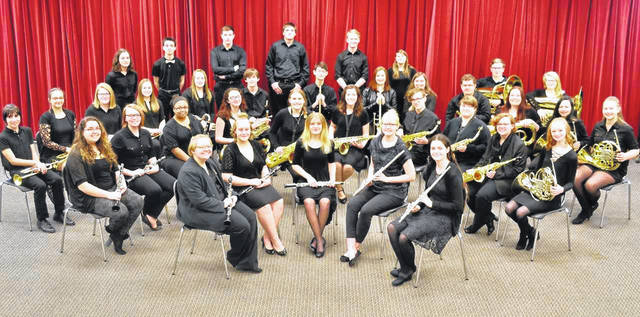 "Courtesy photo The Galion High School Symphonic Band (pictured) and Symphonic Choir each earned an ""I"" rating to advance to their respective Ohio Music Education Association Large Group State contests."
