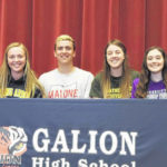 Galion High School athletes announce plans for college