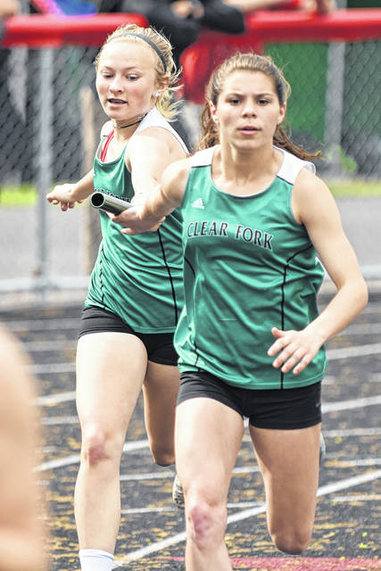 Photo by Don Tudor Clear Fork took part in last week's MOAC track meet in Marion. Overall, the boys team was eighth. The Lady Colts were sixth. Clear Fork placed fourth in the 4x2oo relay.