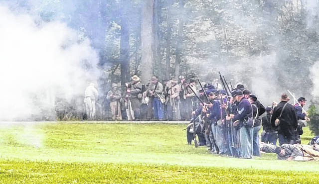 Courtesy photo The Crawford Park District is sponsoring a new event this weekend. A Civil War re-enactment includes lots of oppotunities for Civil War buffs. It is Saturday and Sunday at Unger Park in Bucyrus.