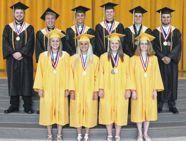 Northmor's 10 valedictorians from 2019 graduation.