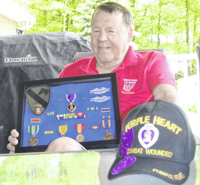 Leon Holtrey was awarded two Purple Hearts for his service in the Vietnam War.