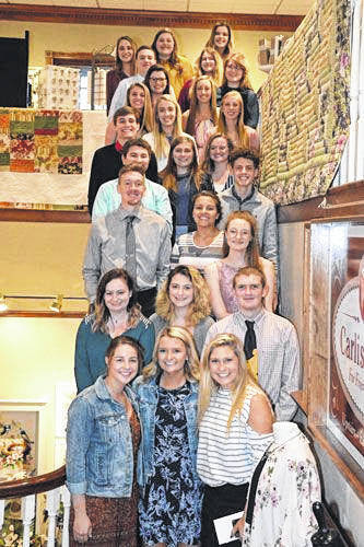 Photo by Jeff Hoffer Twenty-five recently graduated Clear Fork students were the recipients in May of $22,000 in scholarships awarded by the Clear Fork Valley Foundation.