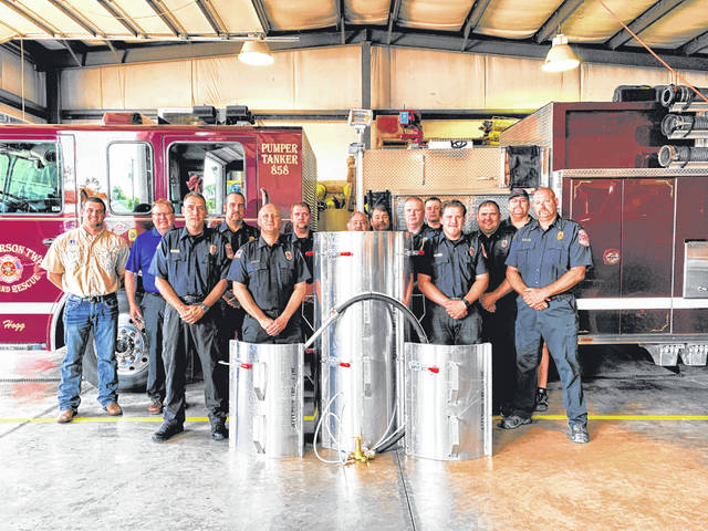 Courtesy photo The Jefferson Township Fire Department, which serves Jefferson and Jackson townships in Crawford County has received a grain bin rescue tube.