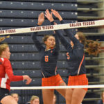 Tigers win VB opener, 3-2 over Bellevue; Photos by Don Tudor