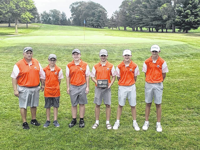 Submitted photo The Galion Tigers boys golf team claimed the victory in their season opener at the Clyde Invitational held at Green Hills Golf Course on Monday. Galion repeats as champions in their second year competing in the tournament.