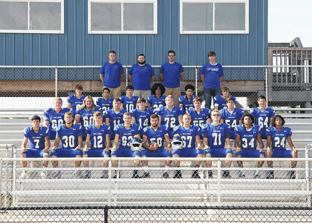 Photo courtesy of Ken Holiday of Holiday Photography The 2019 edition of the Crestline Bulldogs football team