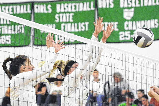 "Photo by Jeff Hoffer Clear Fork senior Kali Weikle is in position to get a block Tuesday vs. Loudonville on Tuesday. Weikle was pretty good on offense, too, racking up eight kills, as did Aubrey Bailey, to lead the Lady Colts. See more photos from the night in an online at <a href=""https://www.galioninquirer.com"" target=""_blank"">www.galioninquirer.com</a>. The Colts won, 3-1<a href=""https://www.galioninquirer.com"" target=""_blank""></a>"