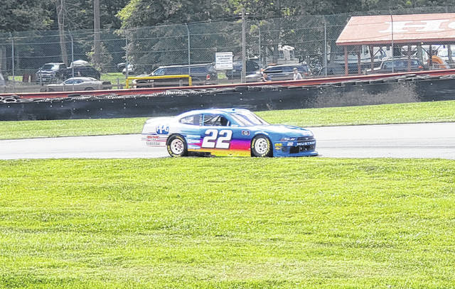 Austin Cindric claimed the checkered flag on Saturday when the NASCAR Xfinity series raced at Mid-Ohio.