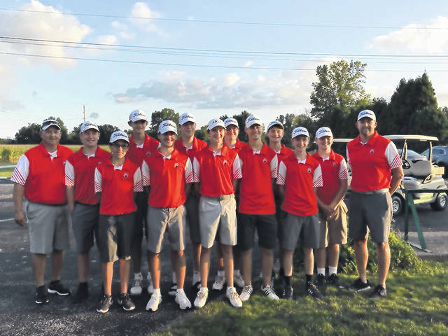 Submitted photo The Galion Tigers boys golf team defeated the visiting River Valley Vikings on Tuesday to finish their regular season at a perfect 12-0. Galion's boys team has not loss a MOAC match since September 15, 2016 at Buckeye Valley.