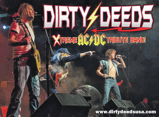 File photo Dirty Deeds Xtreme, an ACDC tribute band will take the stage Saturday evening at the stage on the square in Historic Uptowne Galion during the Galion Oktoberfest, which returns this Thursday, Friday and Saturday after a one-year absence. There will be food, vendors, a merchants tent, family events and plenty of music.