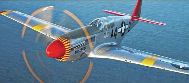 Courtesy photo Win a flight on a P-51 Mustang during a special fundraiser next week at Marion Airport for the Red Tail Squadron.