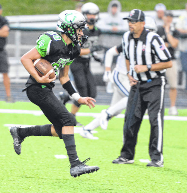 Clear Fork quarterback Brennan South runs for yardage in Friday's 21-7 loss to Granville.