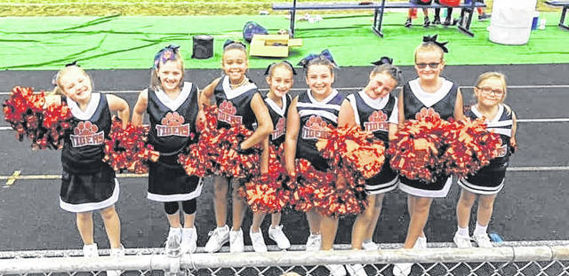 Courtesy photo The Galion Youth Cheer program is growing again and now has about 80 members. They cheer at youth football games and have a chance to sing at Galion High School football games.