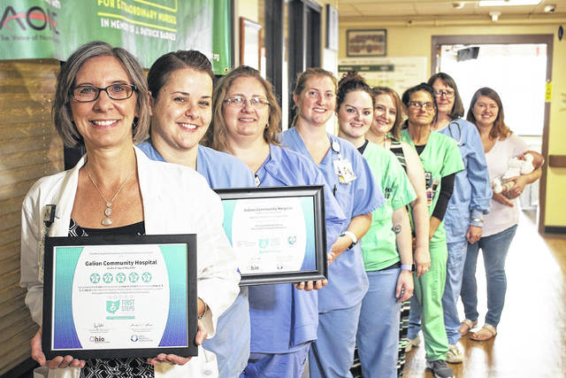 Courtesy photo Avita Galion Hospital has received 5-star recognition for completing the <em>10 Steps for Successful Breastfeeding</em>. For more information, please see the attached press release and photo. Pictured is of Deanna Grube, Lactation Consultant at Avita Health System, and the maternity center staff.