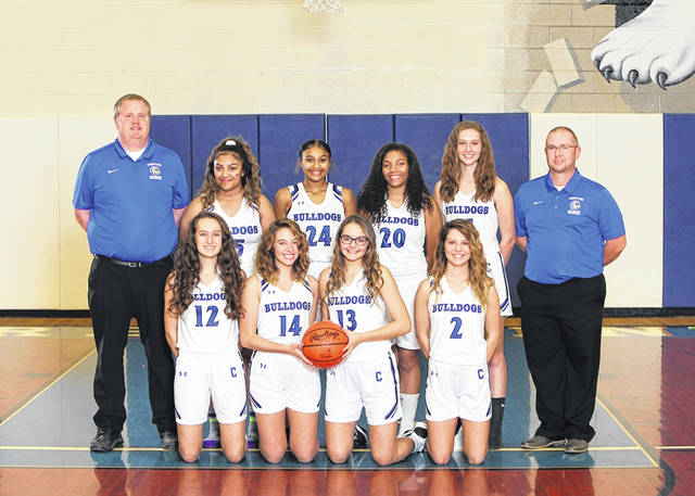 Photo courtesy of Holiday Photography The 2019-2020 edition of the Crestline Lady Bulldogs basketball team