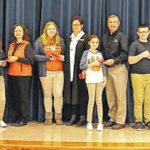 Galion 6th graders gifted calculators from Galion Building and Loan