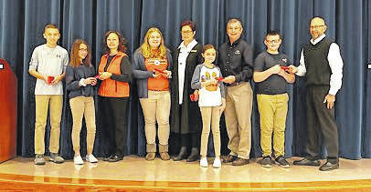 Courtesy photo Galion Building and Loan has once again gifted Galion sixth-graders with personalized calculators.