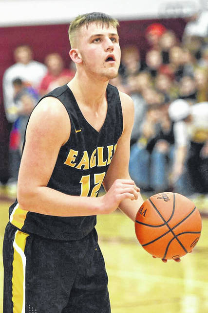 Archive photo   Gavin Feichtner returns for his senior season for the Colonel Crawford Eagles in 2019-2020 following a junior season that saw the big man receiving many postseason accolades.