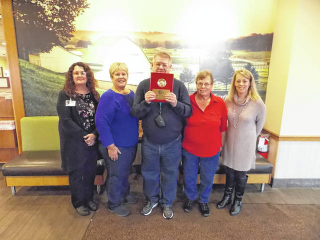 Courtesy photo RNI's Community-Based Employee of the Year for Richland is Larry Kirkpatrick of Mansfield. Larry has been a valued employee of Bob Evans Restaurant on Trimble Road since 1985.