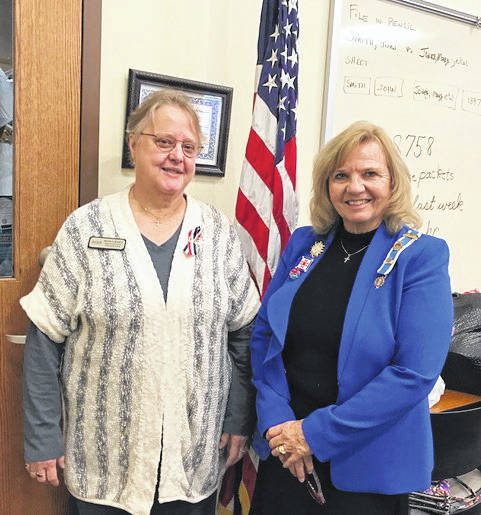 Courtesy photo Membership Chair Sheila Larson welcomed new member Bette Backus at at the local DAR chapter's Nov. 1 meeting. Backus is show here with Regent Joyce Vantter.