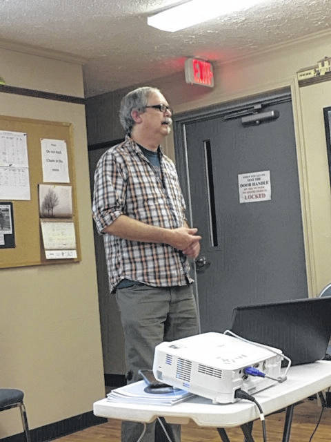 Courtesy photo Tom Neel, the library director of the Ohio Genealogical Society, was the speaker at the Nov. 18 meeting of the Bellville Jefferson Township Historical Society.