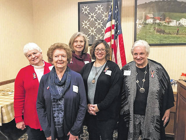 Courtesy photo New chapter members are Cynthia Strader, Jo Ella Fosco, Patricia Naumoff, Beth Comerford and Dee Ann Speece.