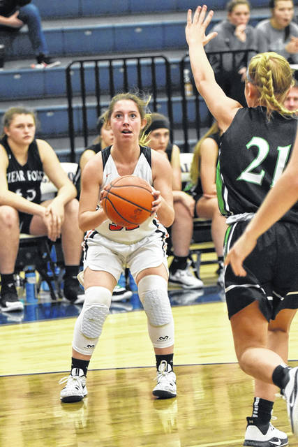 Don Tudor | Galion Inquirer Galion's Kylie McKee squares up for a shot during Saturday afternoon's home contest against the Clear Fork Lady Colts. Unfortunately for the Lady Tigers, they found themselves on the wrong end of a 51-24 score, thus continuing their losing streak in MOAC contests.